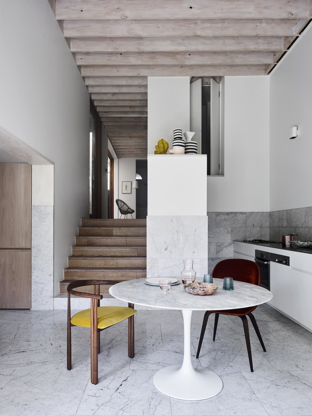 Dining and kitchen at Bondi Junction House by Alexander & CO.