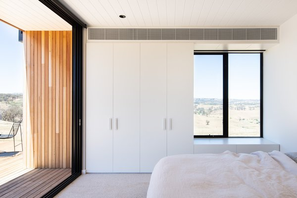 Although there are gathering areas and fluid spaces throughout the home, there are also intimate nooks, such as window seats in the bedrooms.