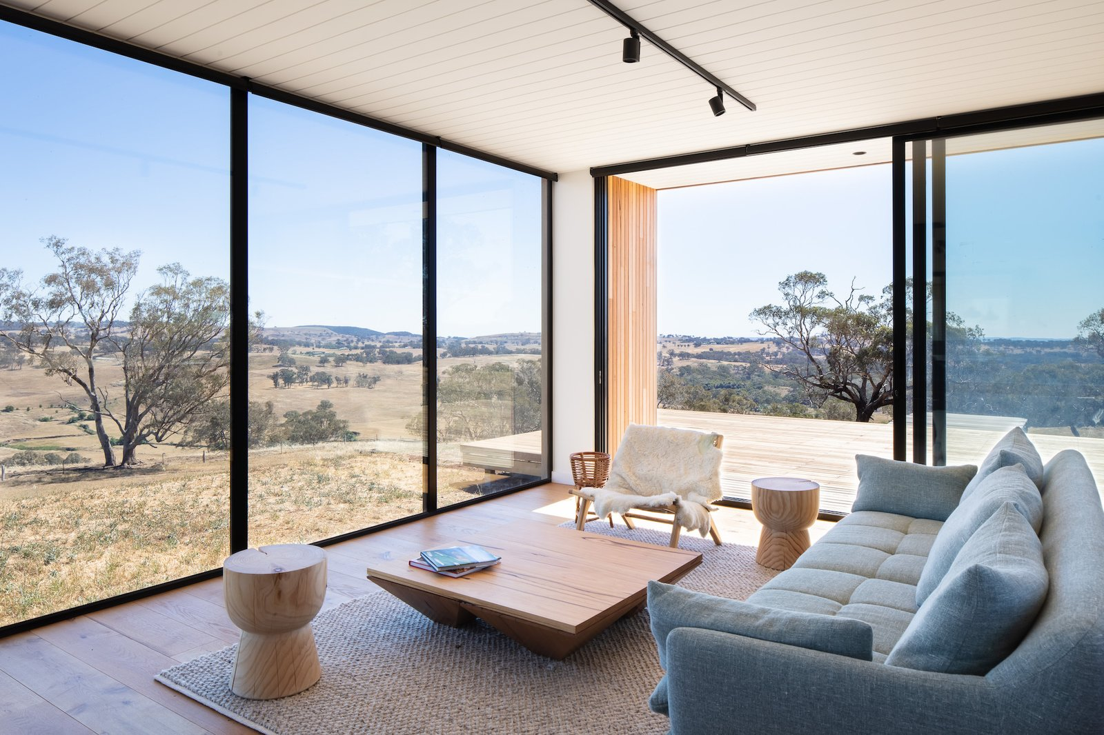 Living room at Kangaroobie by Modscape.