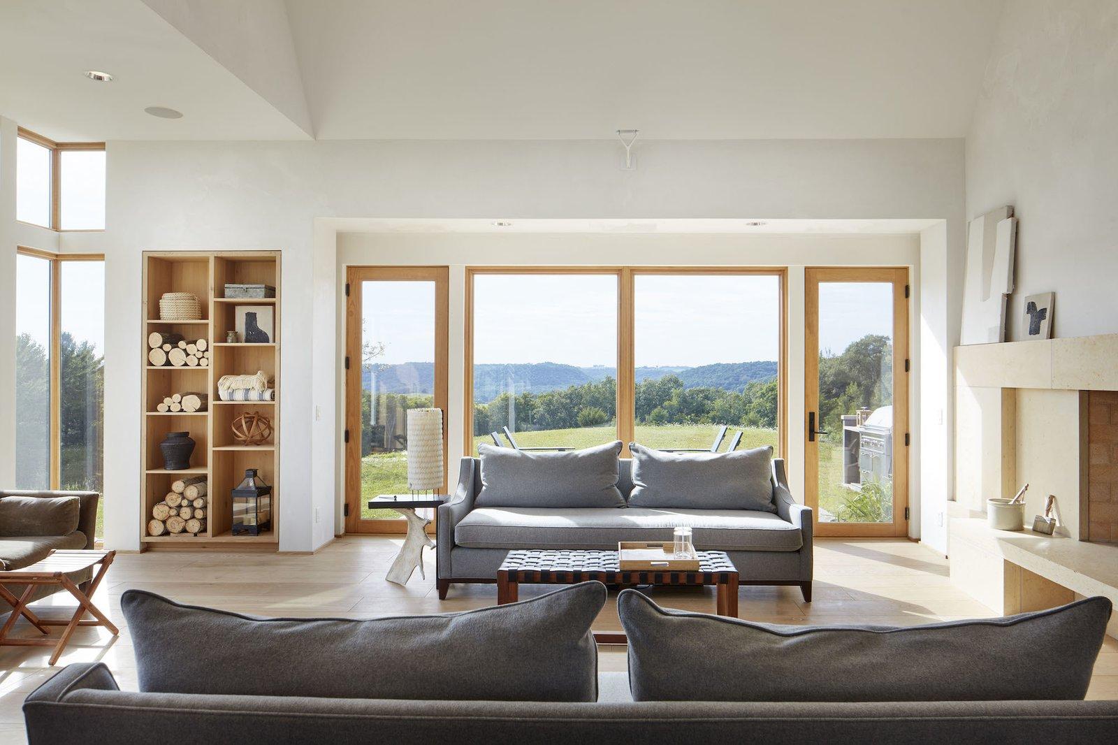Living Room at Lake Pepin Farmhouse by TEA2