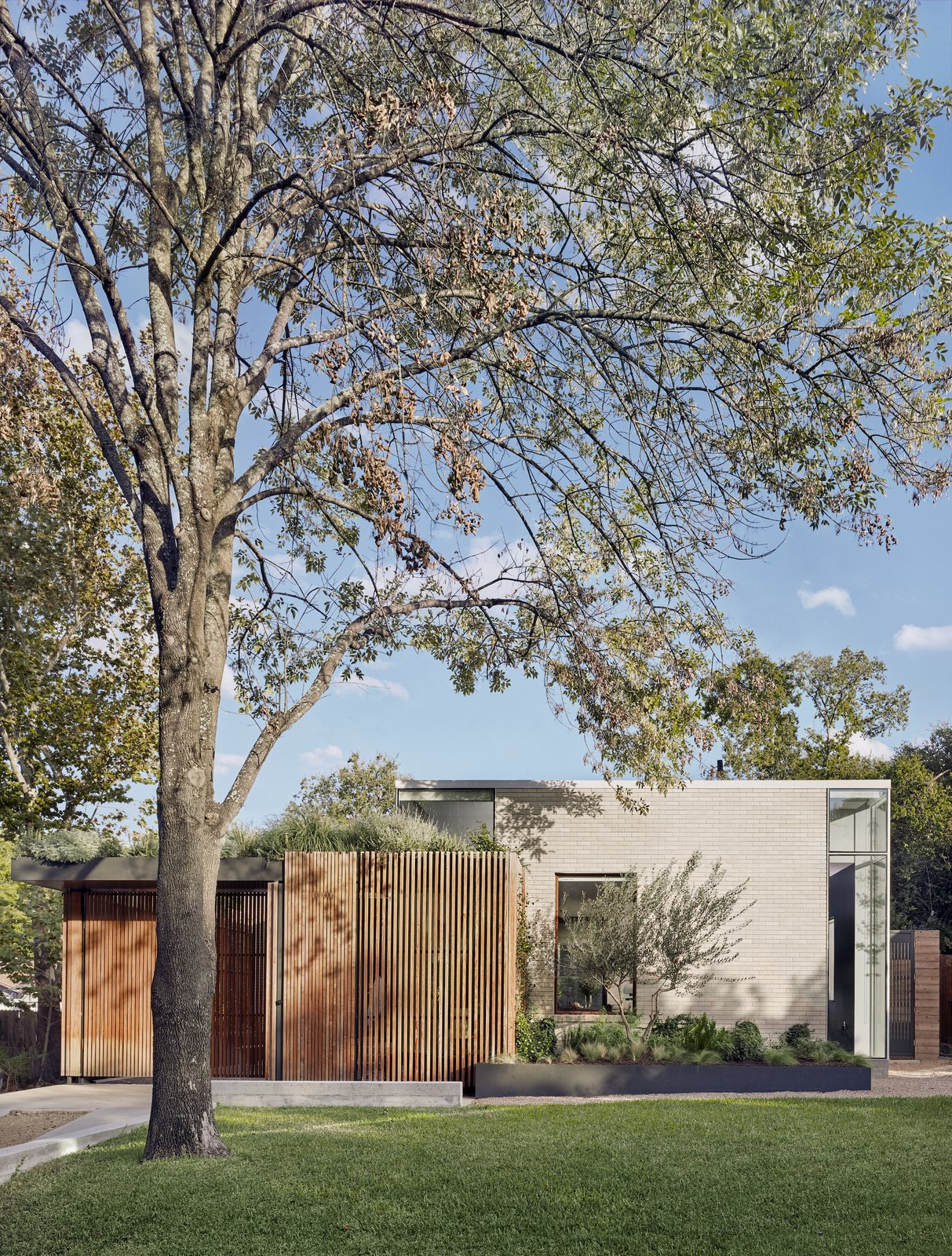 Exterior of Hemlock Ave. House by Chioco Design.
