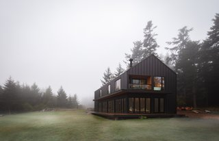 """Saltwater Farm is located just outside the small town of Friday Harbor, which has a population of less than 2,500. """"San Juan Island has a beautiful valley populated with farms, and it's supported by a tourism- and agriculture-driven economy,"""" says designer Taylor Bode. """"It was seen by Andrew and Merriss as the perfect place to bring their farm vision to life."""""""