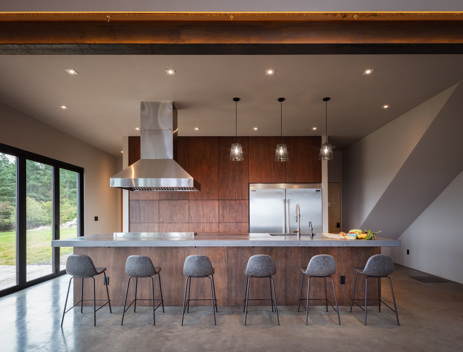 Communal kitchen of Saltwater Farm main house by RAD LAB.
