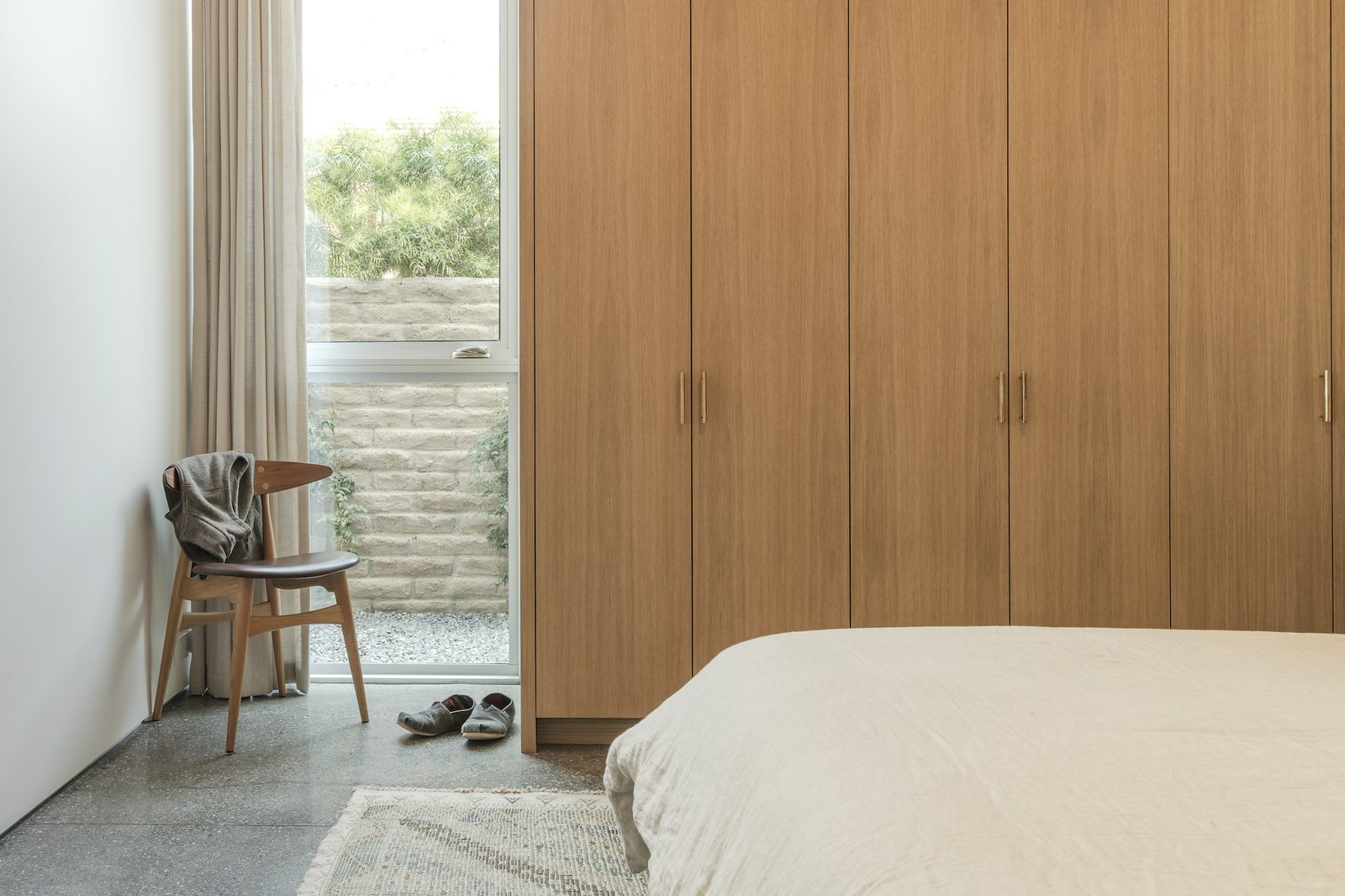 Guest bedroom at Culver City Case Study House by Woods + Dangaran.