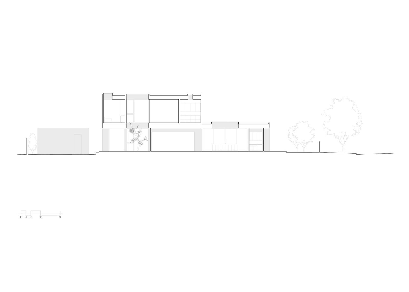 Section of Culver City Case Study House by Woods + Dangaran