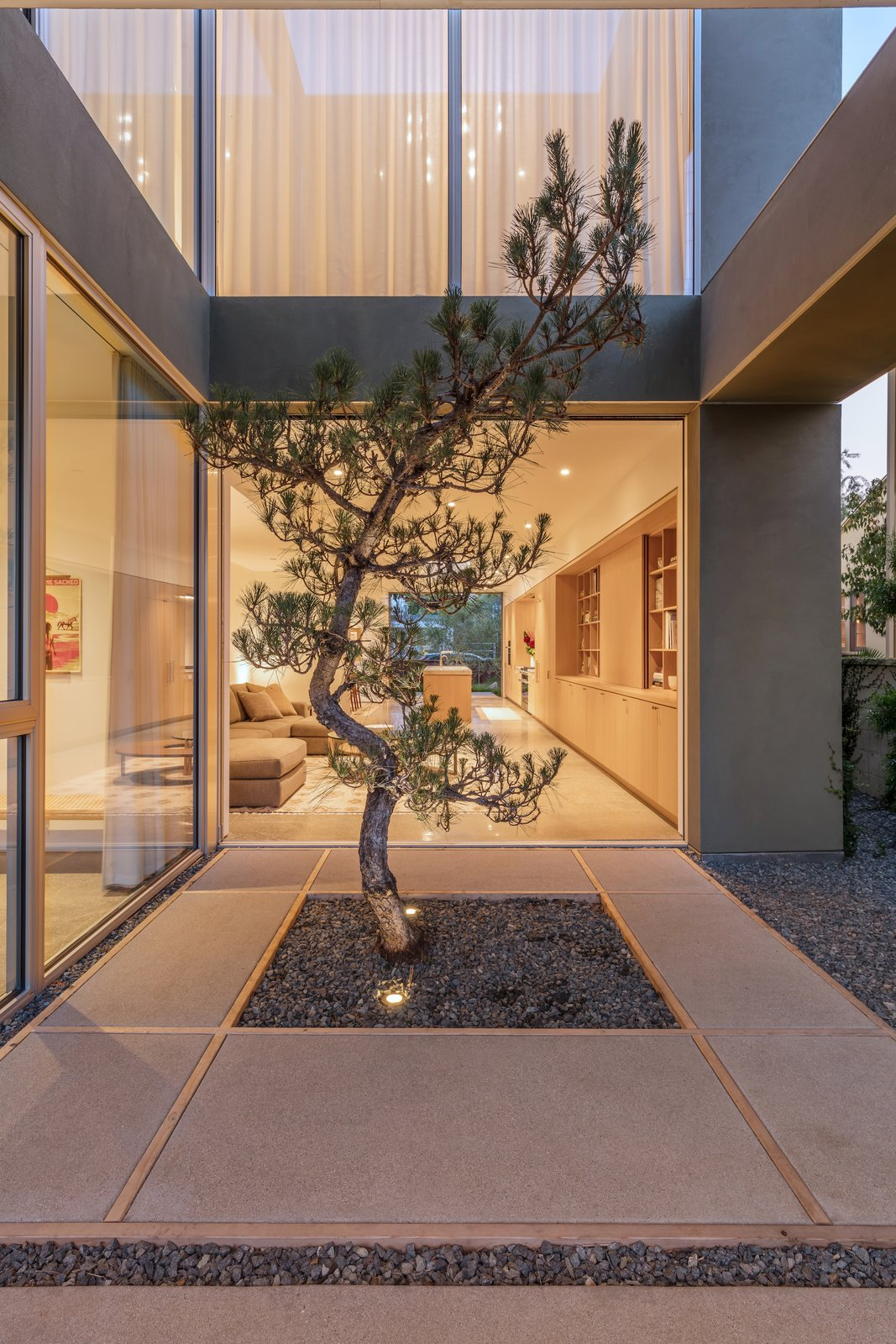 Courtyard at Culver City Case Study House by Woods + Dangaran.