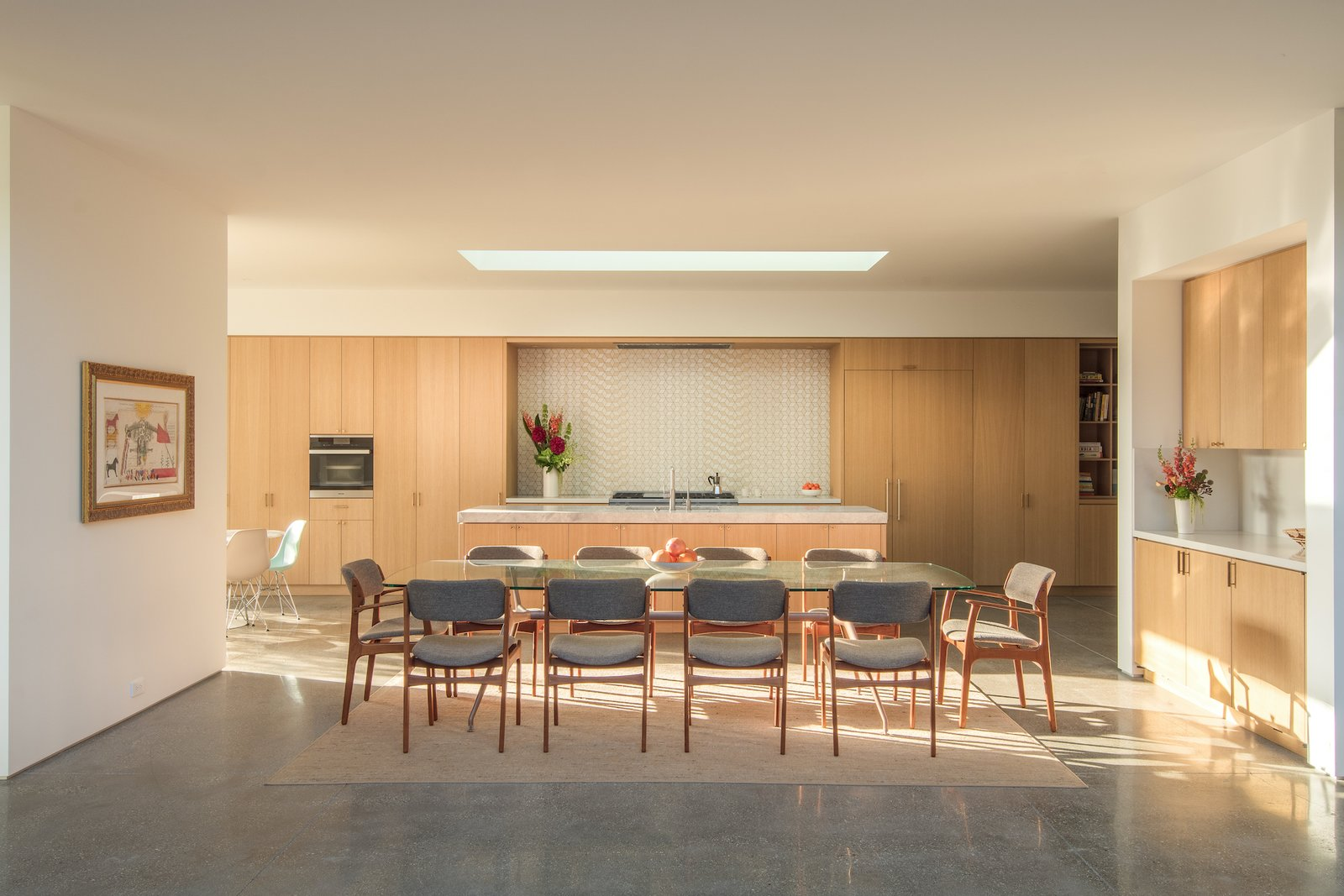 Dining room at Culver City Case Study House by Woods + Dangaran.
