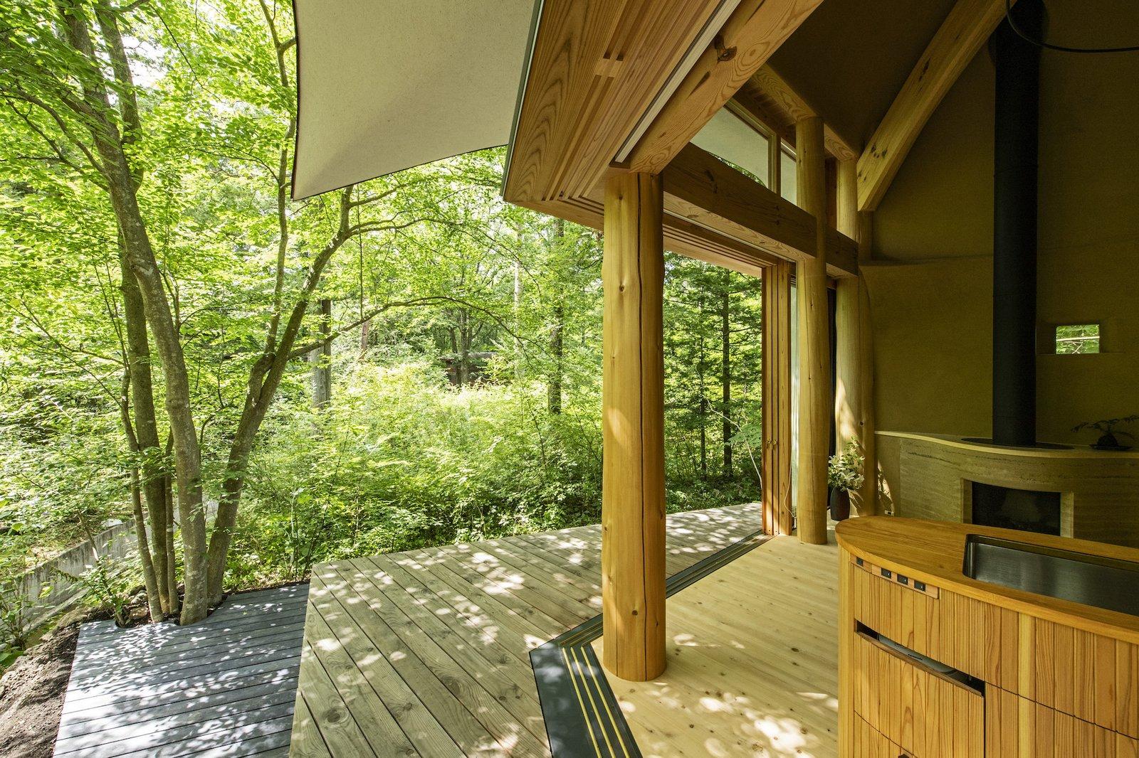 Deck of Shell House by Tono Mirai Architects.