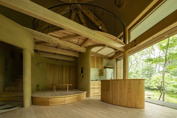 The first floor is constructed primarily from sawara cypress, a species of wood native to central Japan this is cultivated for its high-quality timber.