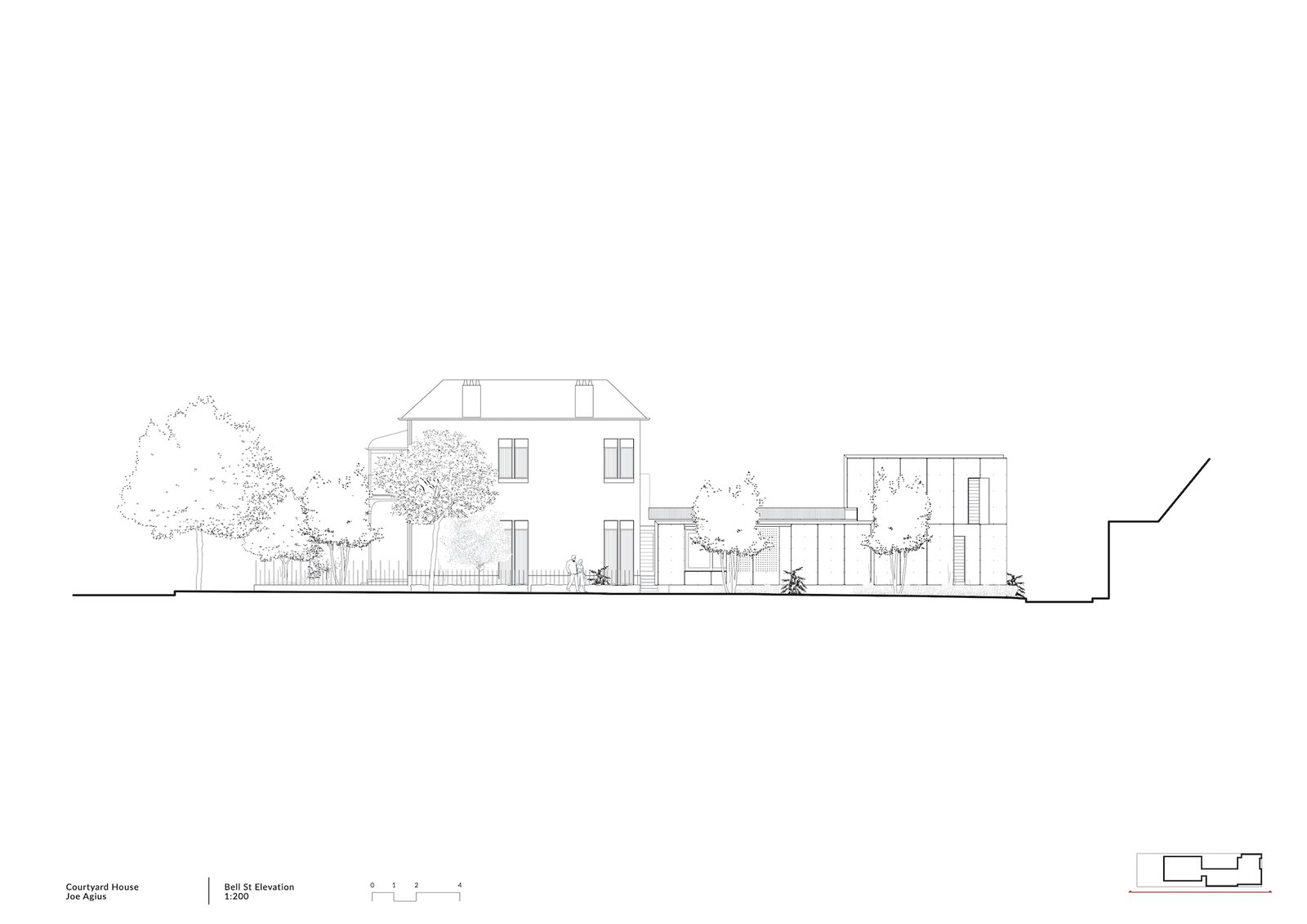 Bell St Elevation by COX before the renovation.