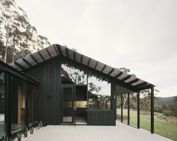 """The verandas provide a threshold between the internal and external spaces. """"They soften the abrupt change and mediate the relationship between inside and out,"""" says architect Ben Shields."""