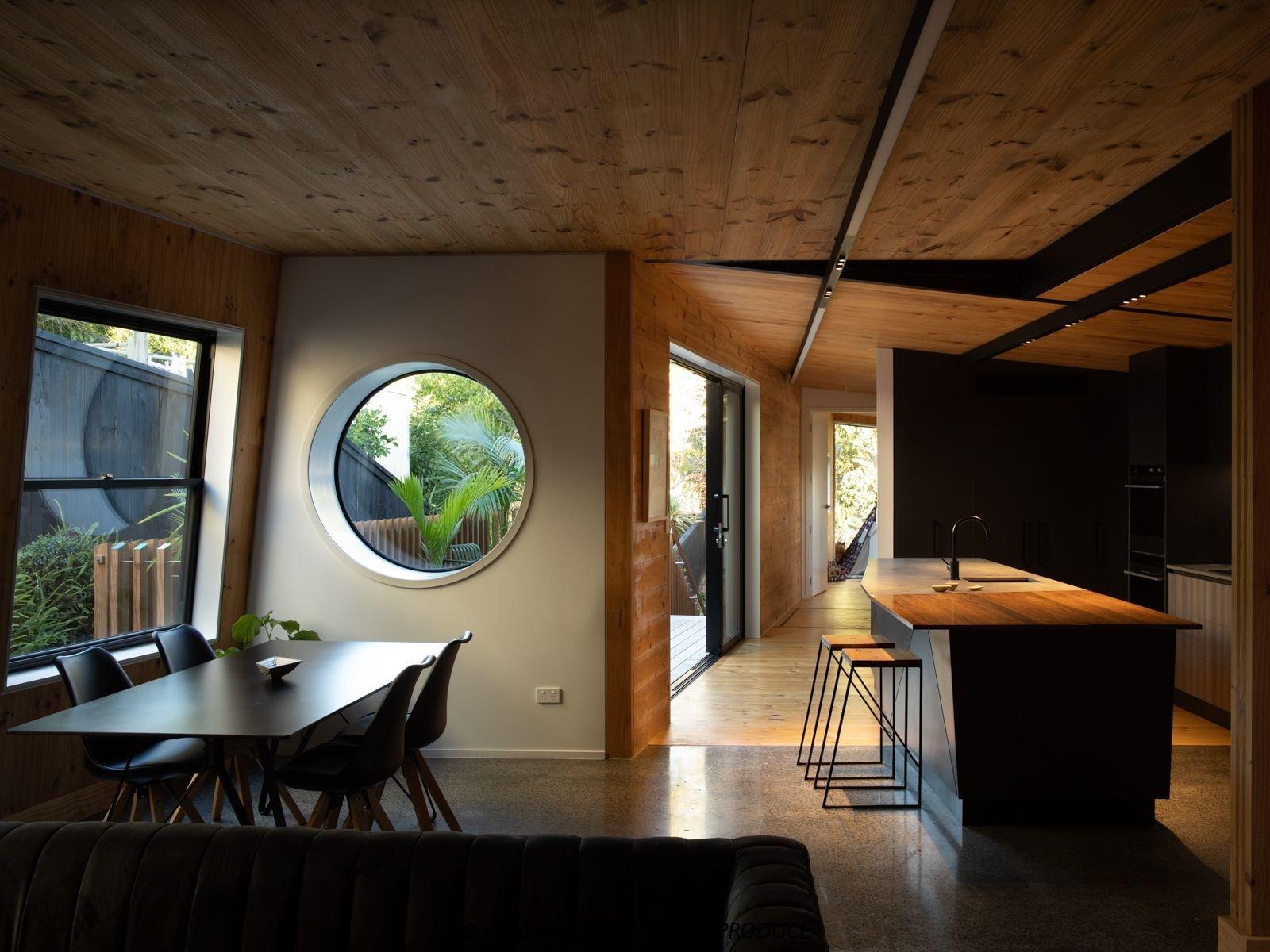 Dining area of Tuarangi House by TOA Architects.