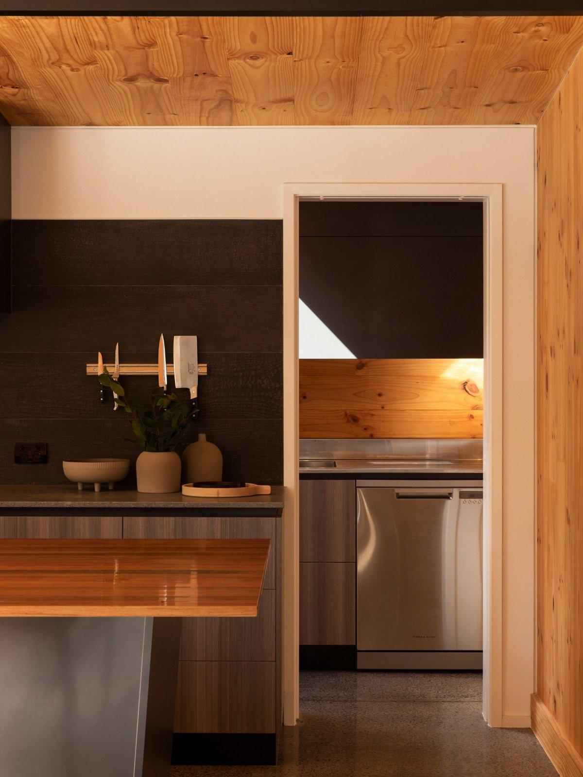 Kitchen of Tuarangi House by TOA Architects.