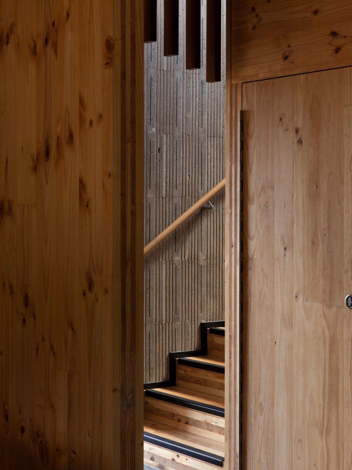 Stair of Tuarangi House by TOA Architects.