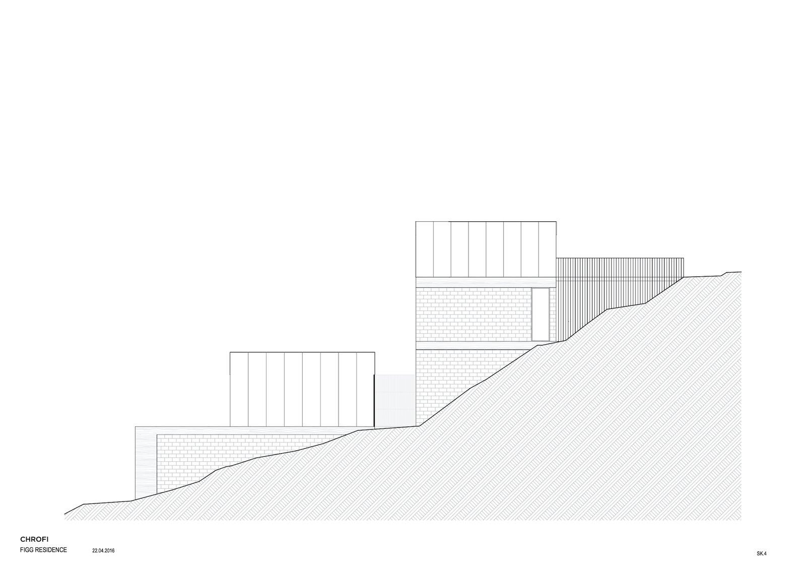 Elevation of Church Point House by CHROFI.