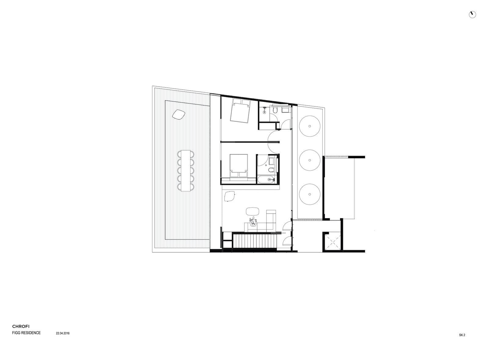 First-level floor plan of Church Point House by CHROFI.