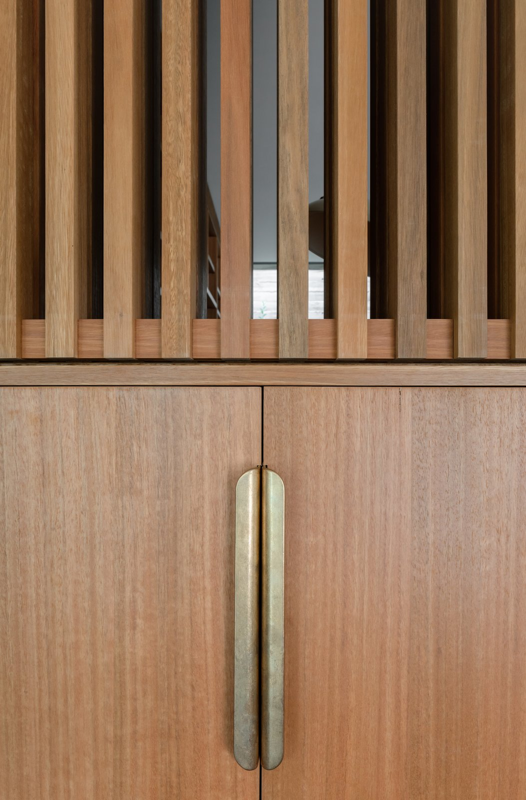 Cabinetry detail at Church Point House by CHROFI.