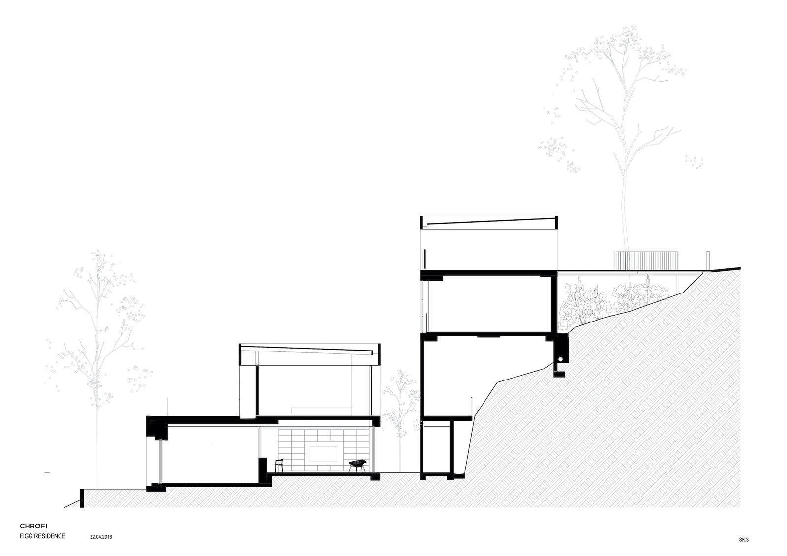Section of Church Point House by CHROFI