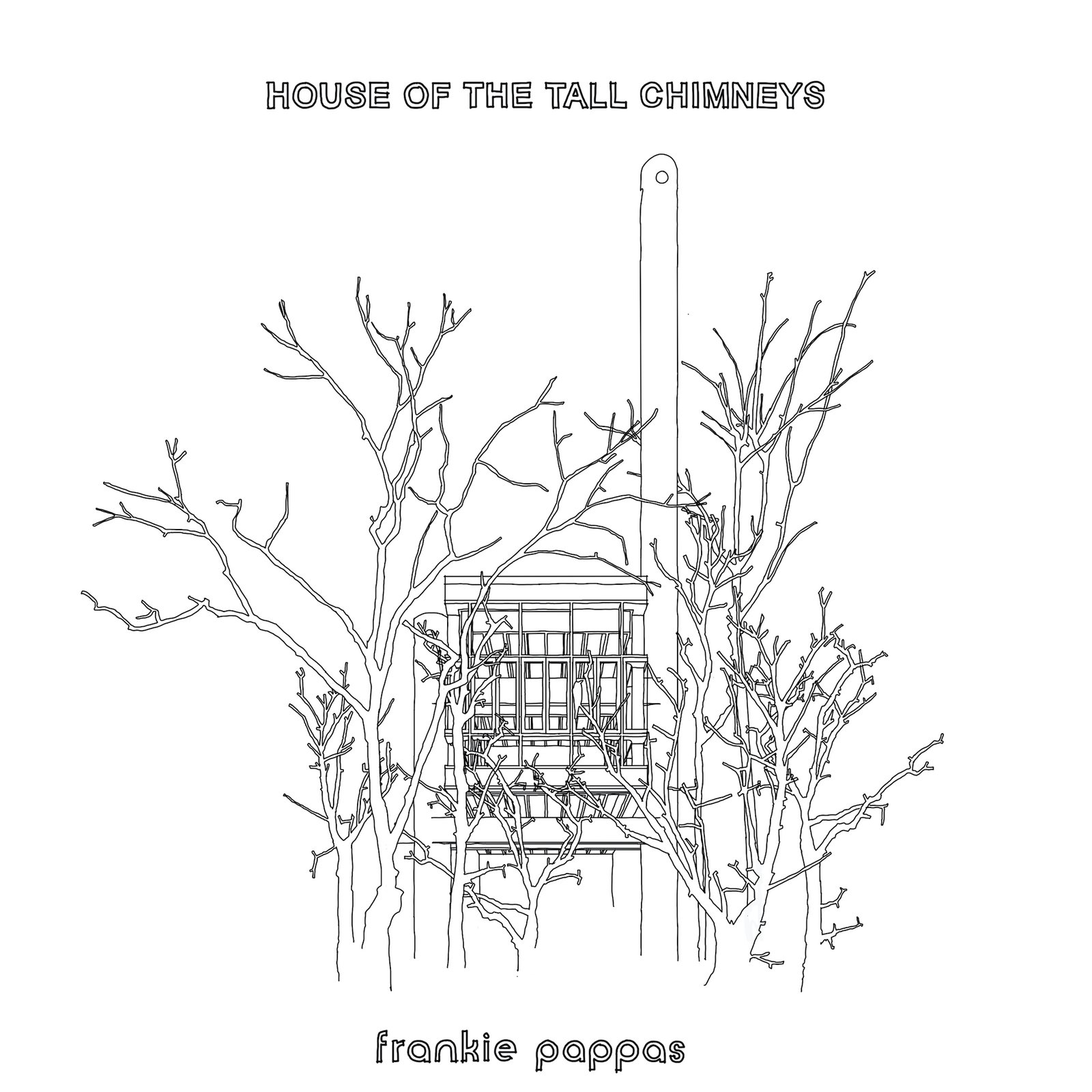 Drawing of House of the Tall Chimneys by Frankie Pappas.