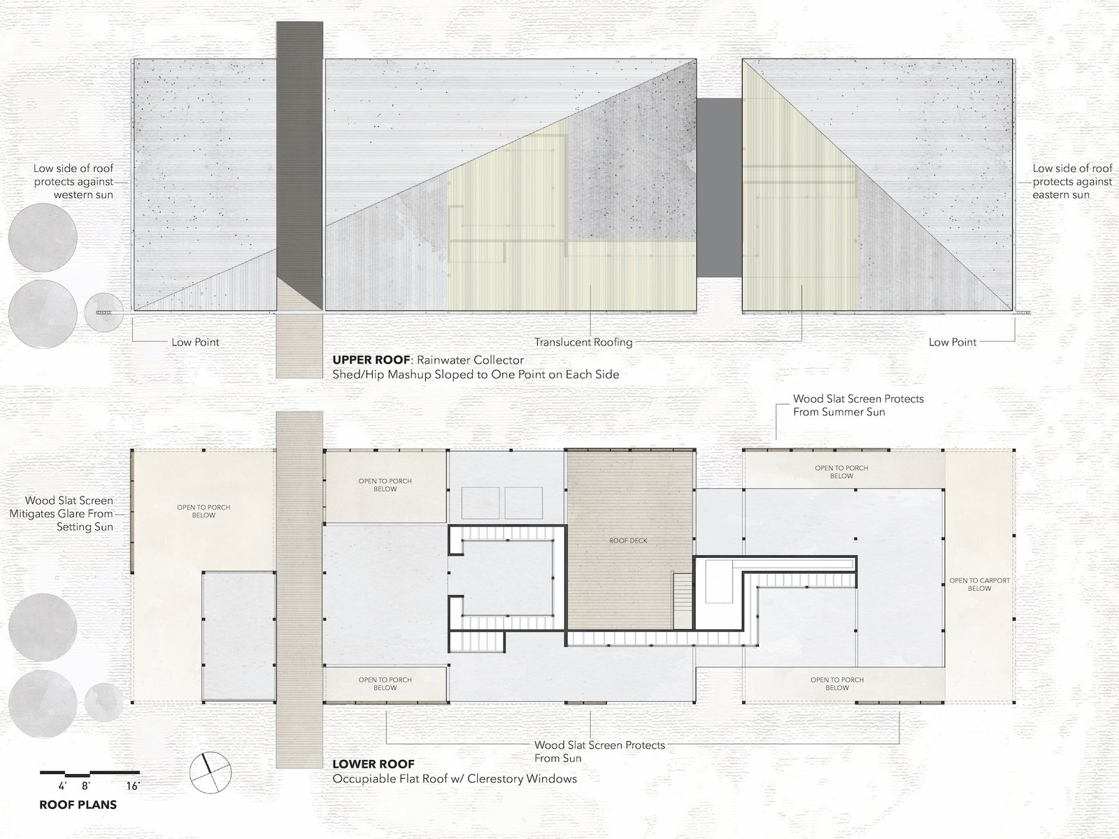 Roof plans of Dakota Mountain Residence by LowDO.