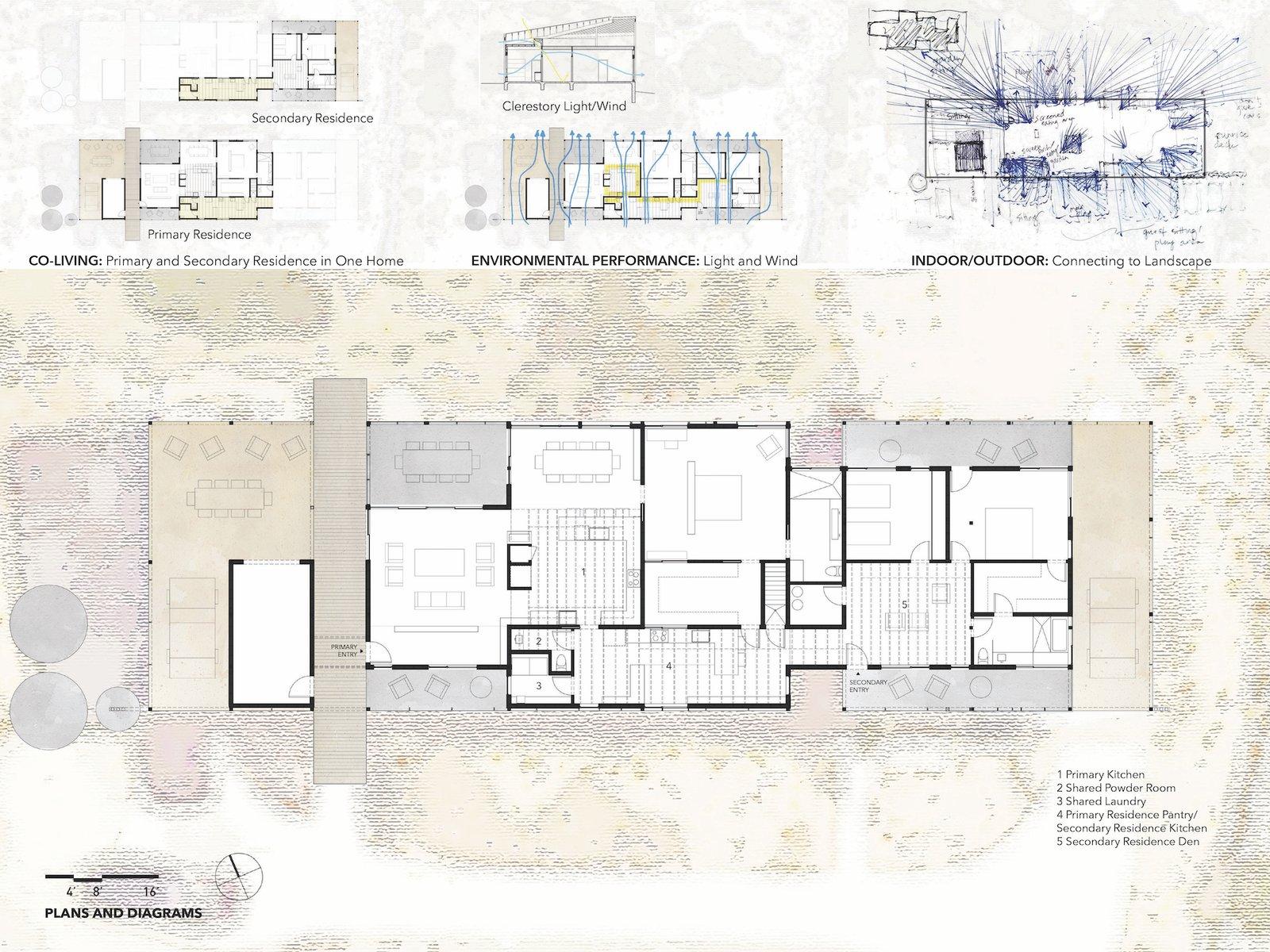 Floor plan of Dakota Mountain Residence by LowDO.