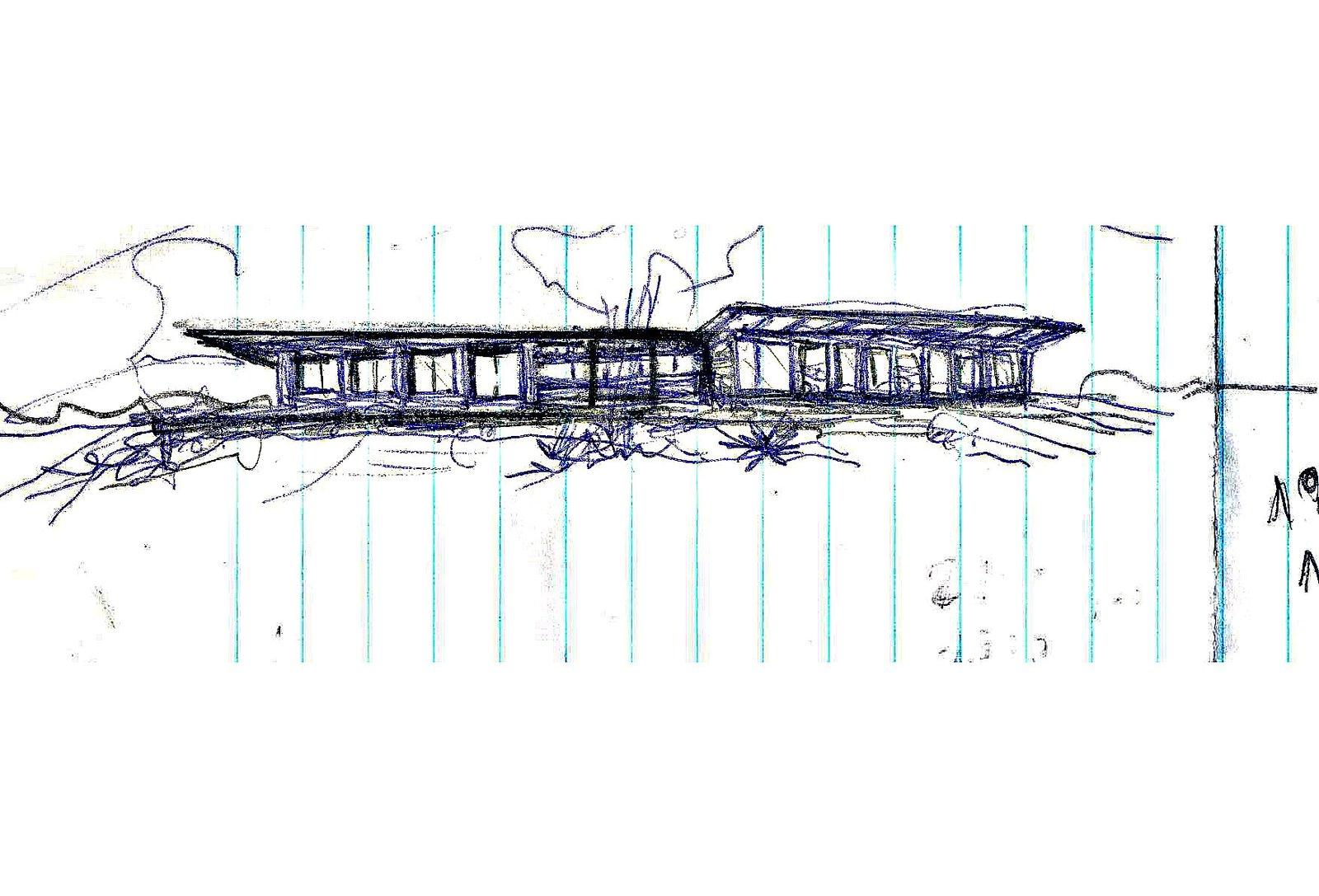 Sketch of Vale das Videiras House by Rodrigo Simão Arquitetura