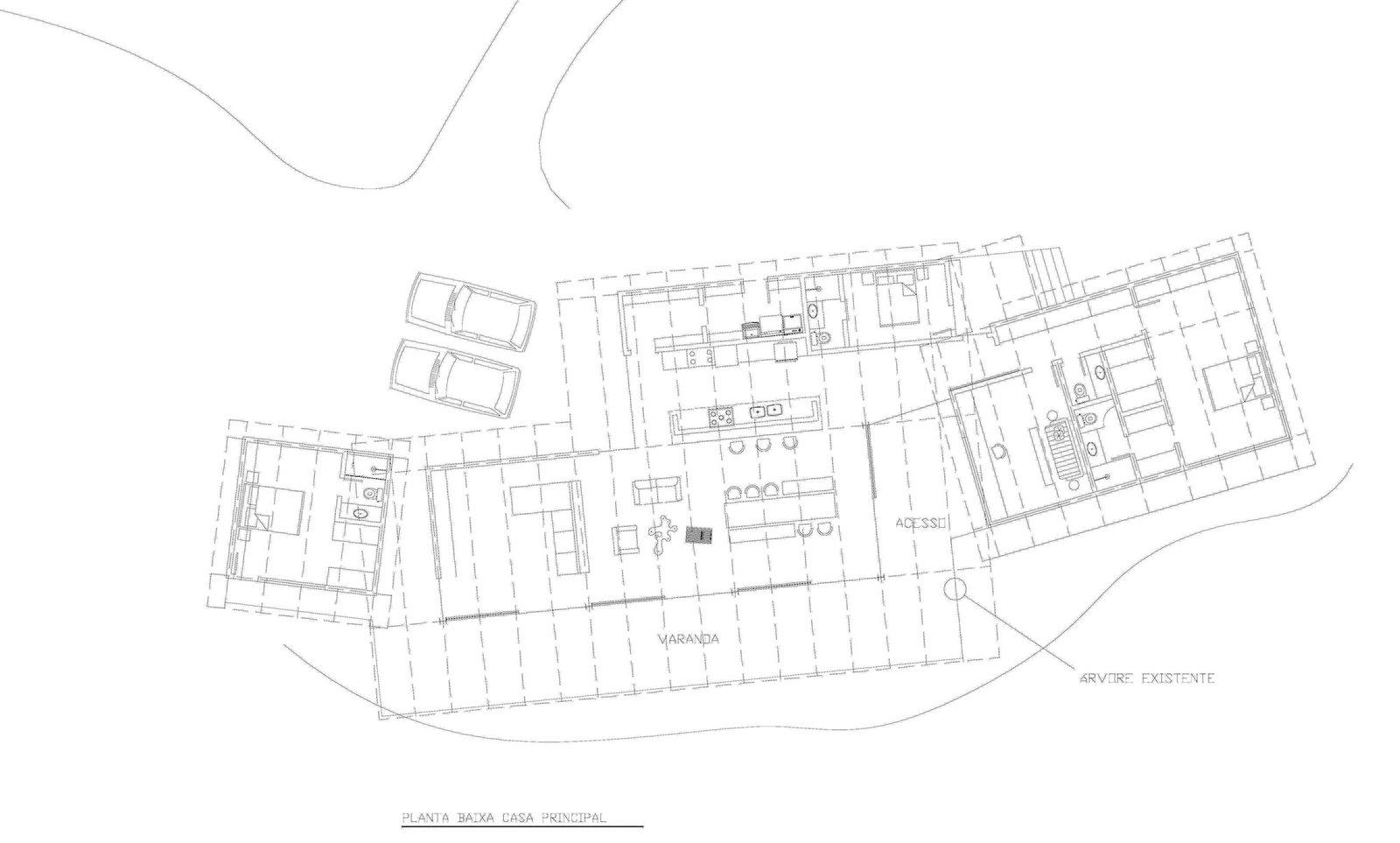 Floor plan of Vale das Videiras House by Rodrigo Simão Arquitetura