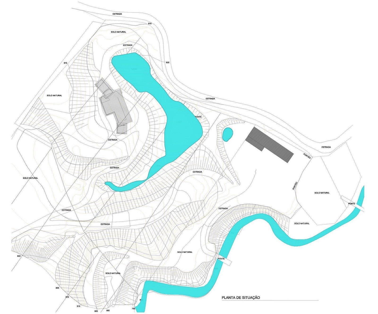 Site plan of Val das Videiras by Rodrigo Simão Arquitetura