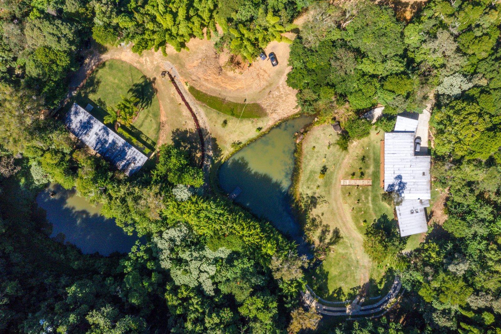 House in Vale Das Videiras aerial view