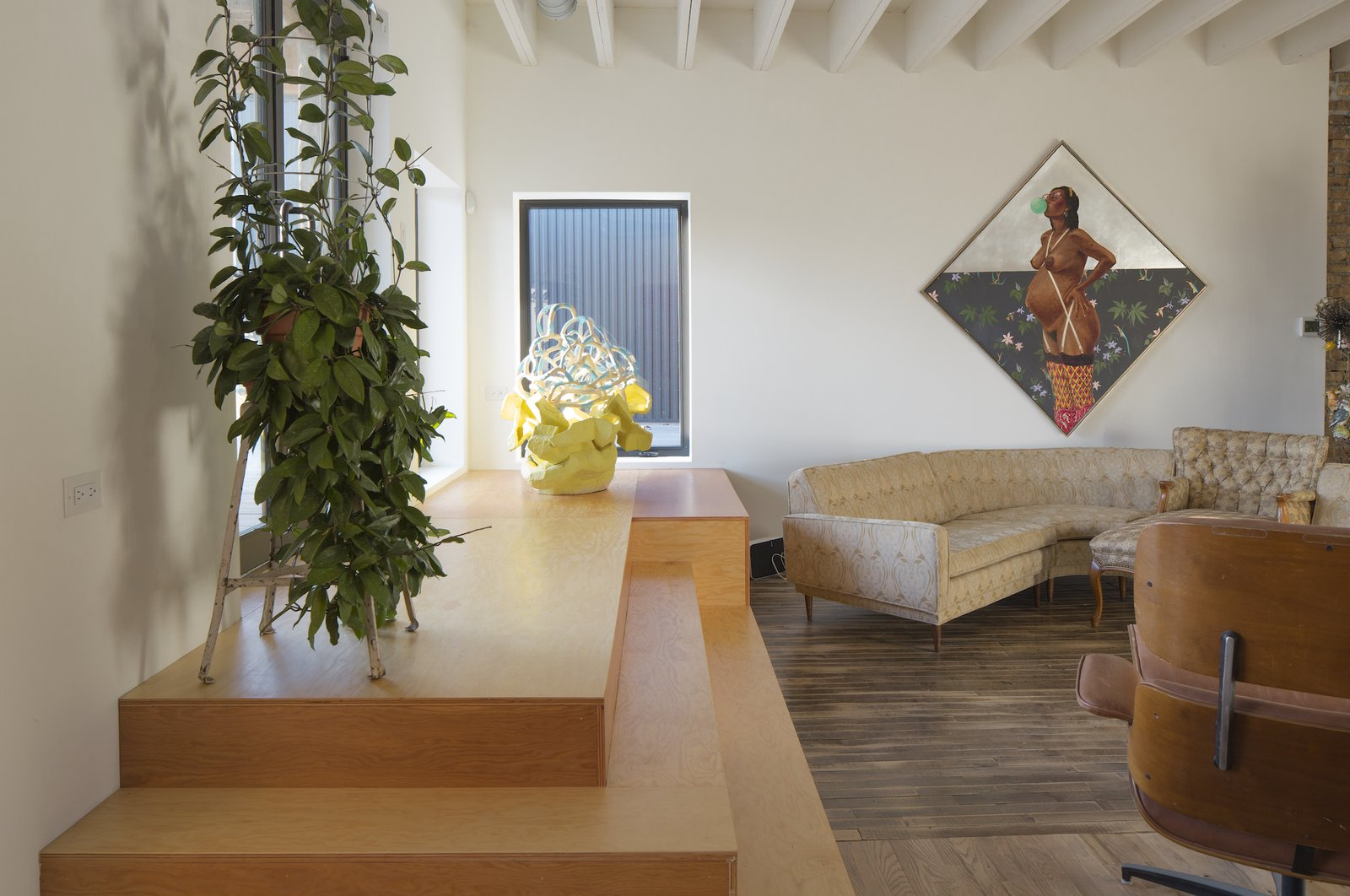 Living room at Facility by Carlo Parente Architecture.