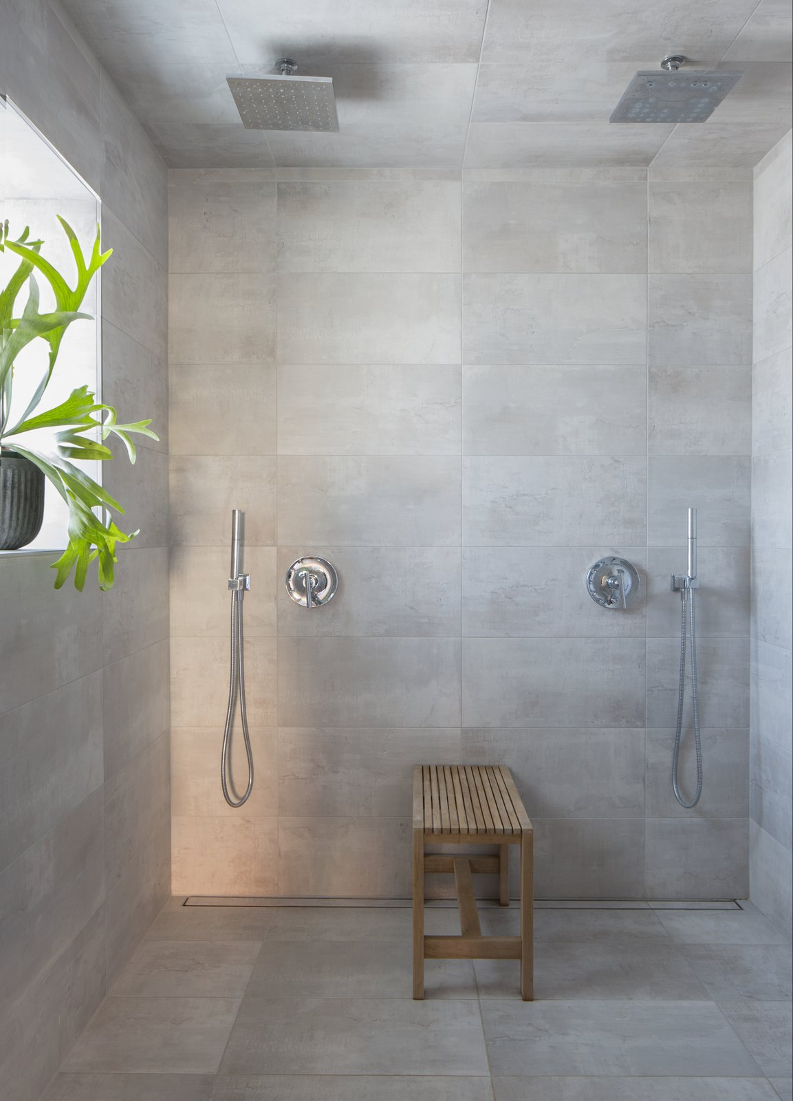 Bathroom at Facility by Carlo Parente Architecture.