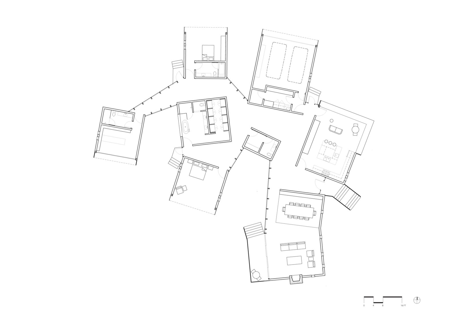 Floor plan of Branch House by TOLO Architecture