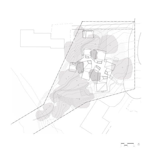 Site plan of Branch House by TOLO Architecture