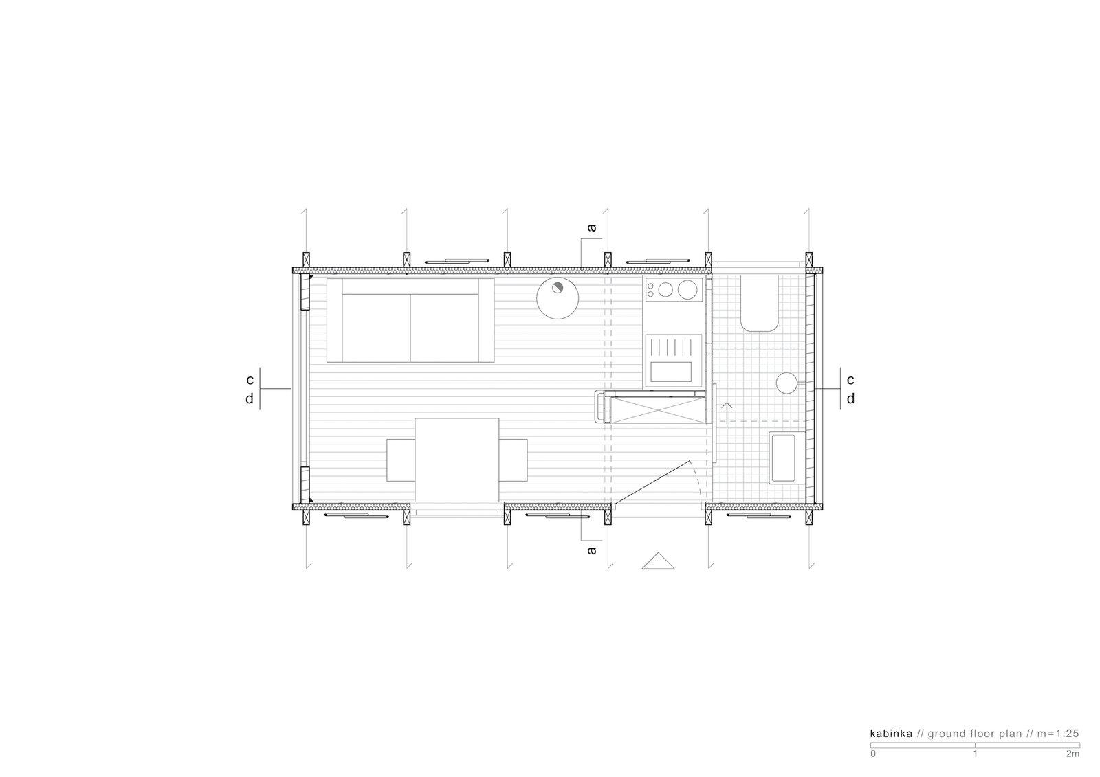 Floor plan of Kabinka by Hello Wood