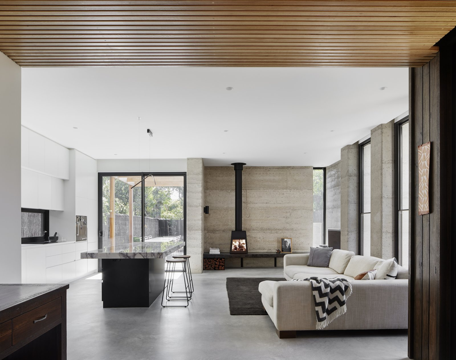 Living room of Laurel Grove by Kirsten Johnstone Architecture.