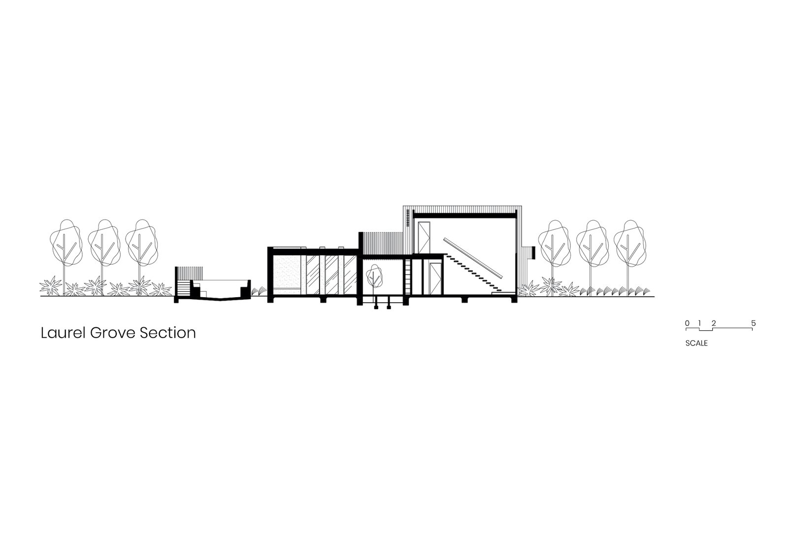 Section of Laurel Grove by Kirsten Johnstone Architecture.
