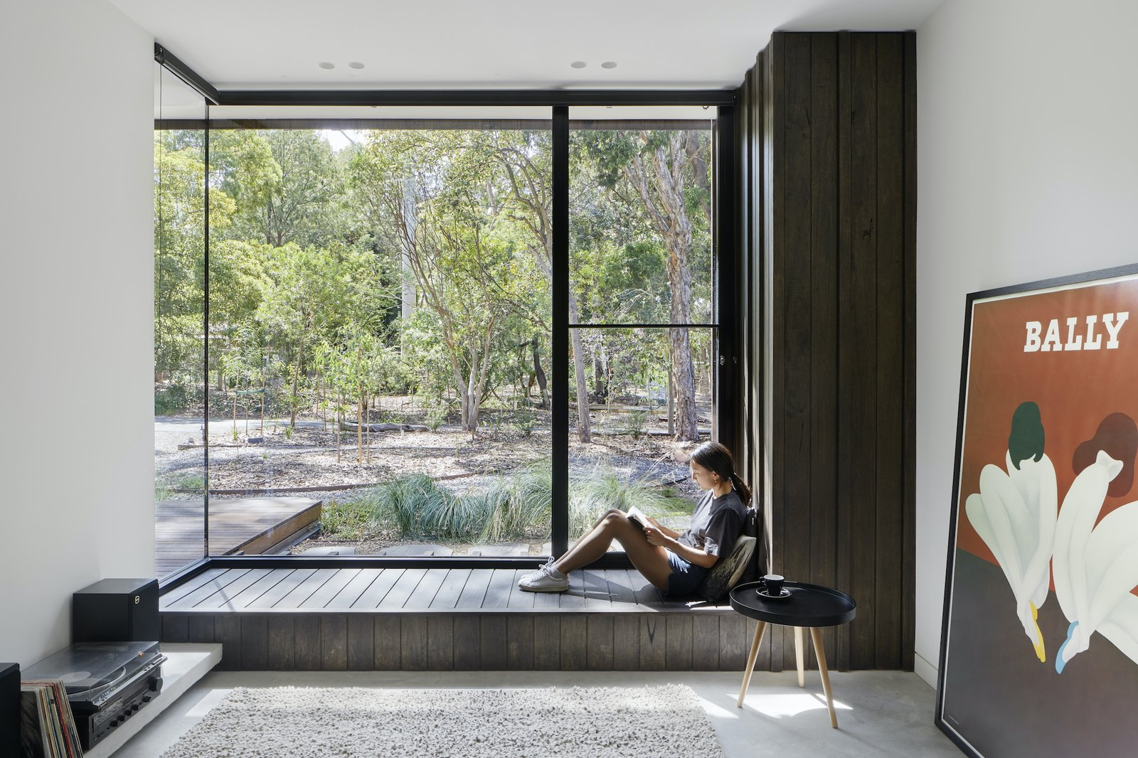 Reading nook of Laurel Grove by Kirsten Johnstone Architecture.