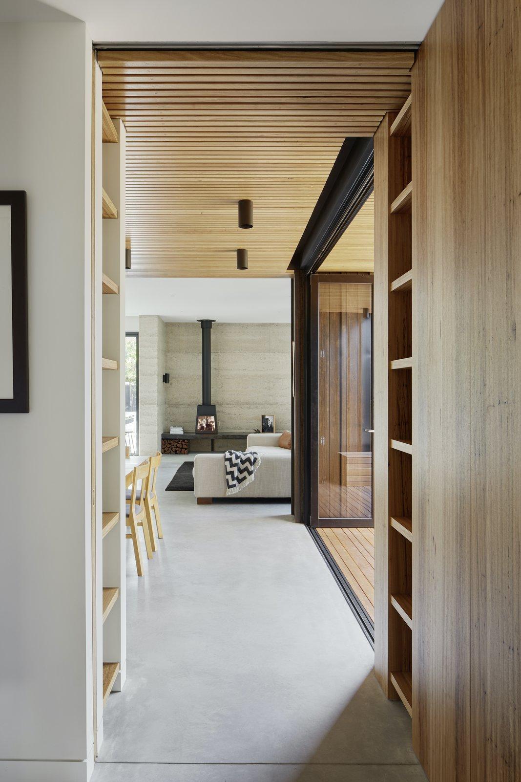 Hallway and storage of Laurel Grove by Kirsten Johnstone Architecture.
