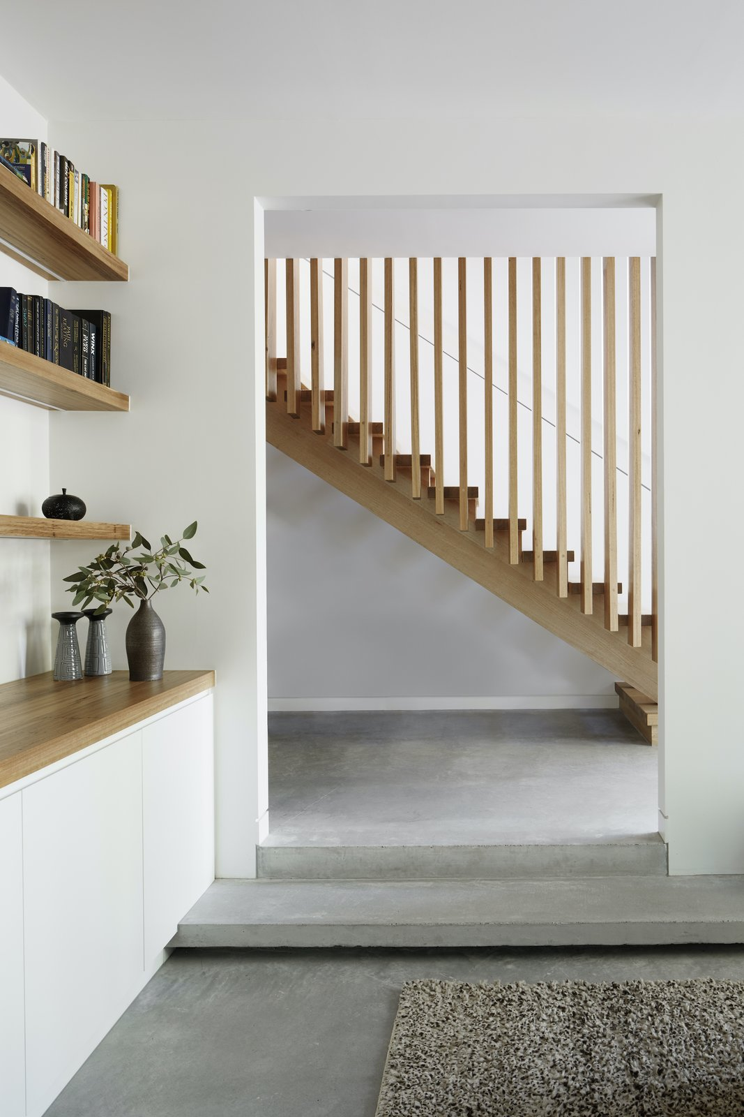 Stairs of Laurel Grove by Kirsten Johnstone Architecture.