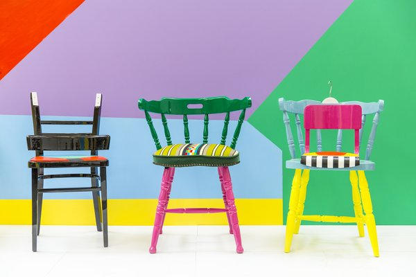 If Chairs Could Talk is a collection of upcycled chairs created for London Design Festival 2015. Each chair was inspired by traditional Nigerian parables and African fabrics that Yinka grew up with.