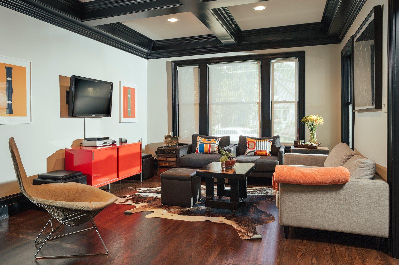 Living room at Birmingham Residence by McIntosh Poris Associates.