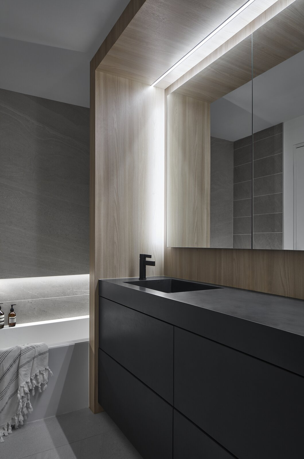 Bathroom of Walker Residence by Reflect Architecture.