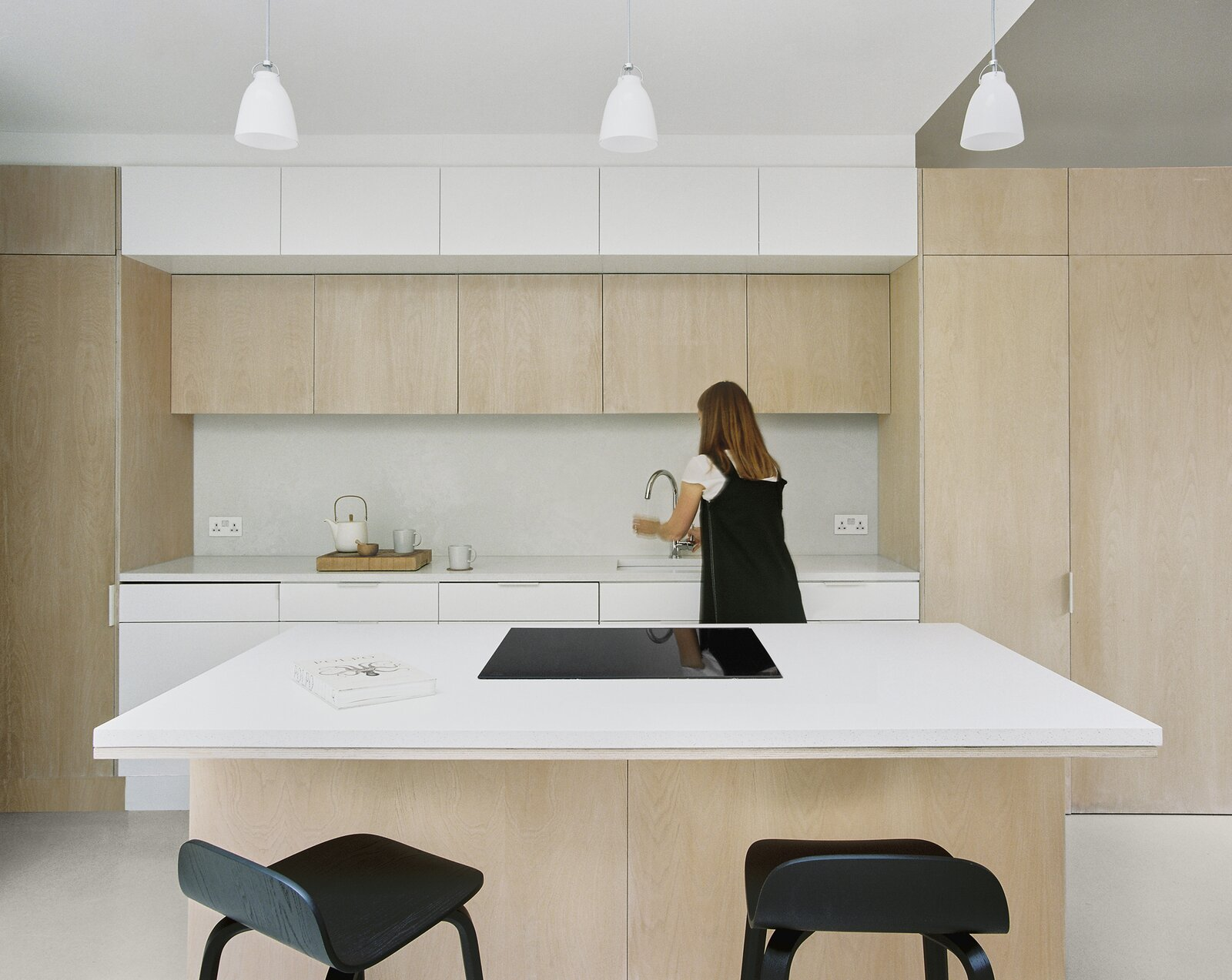 Kitchen of Zigzag Roof House by 4 S Architecture.