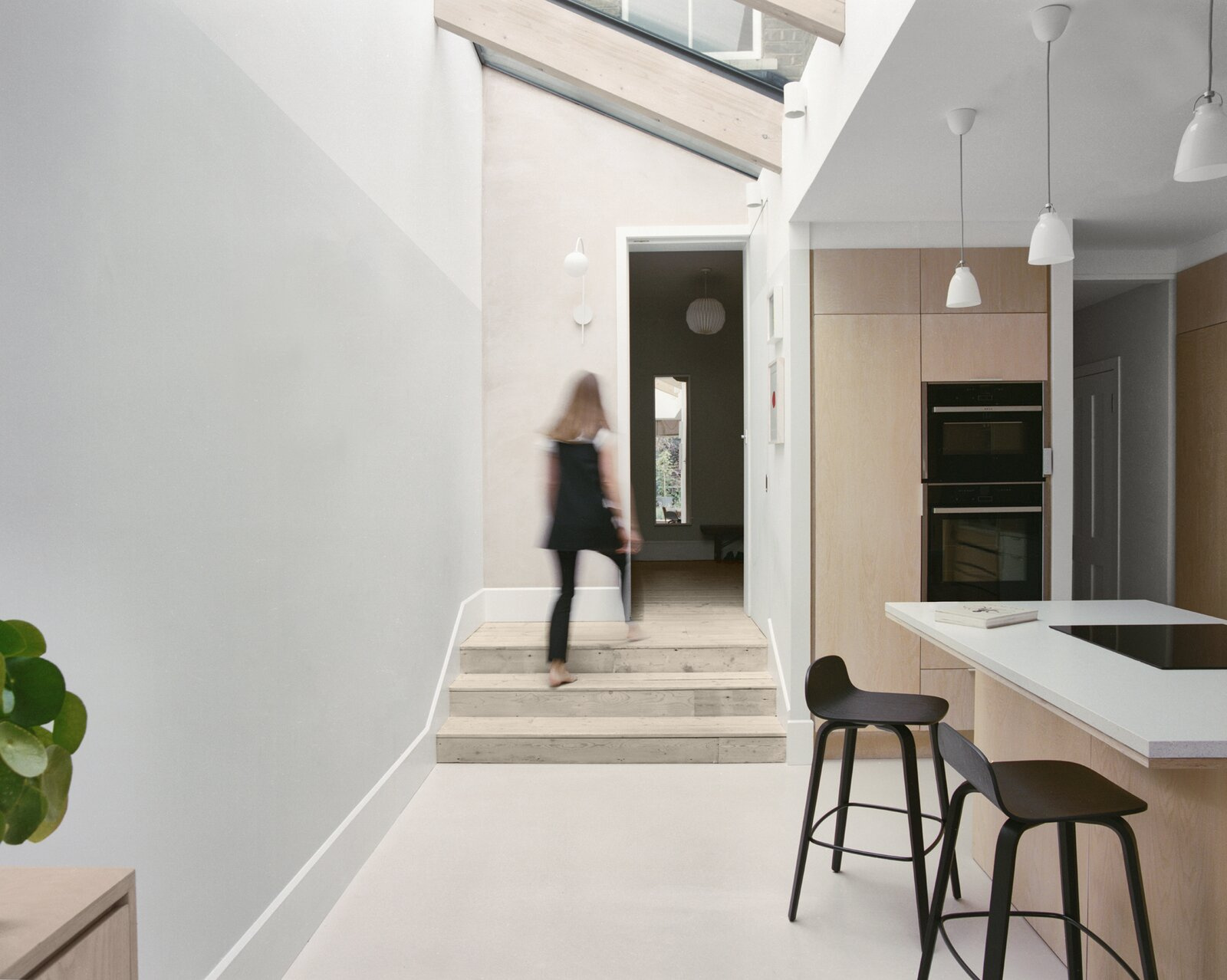 Hallway of Zigzag Roof House by 4 S Architecture.