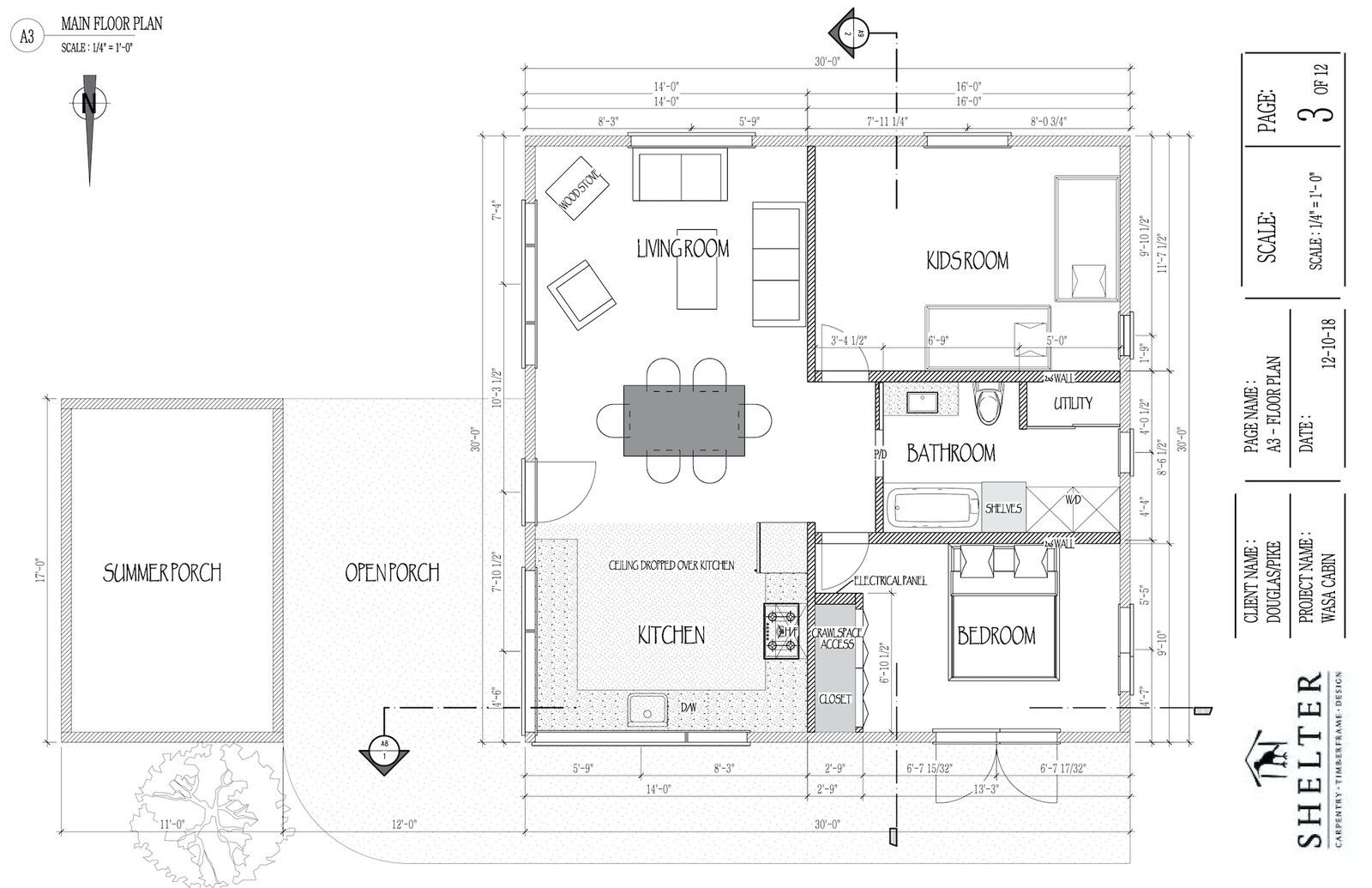 Floor plan of TreeGazer