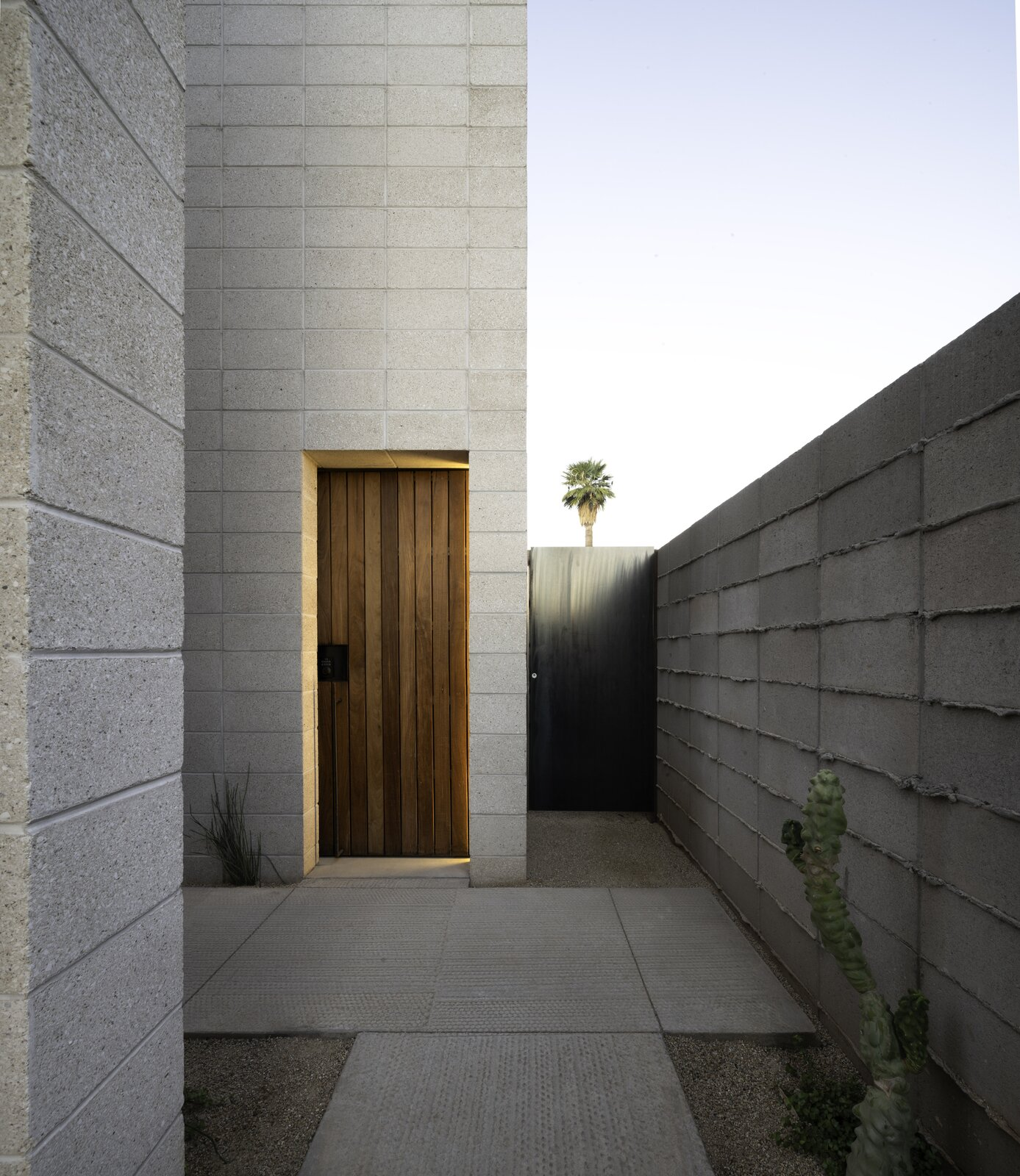 Entrance to White Stone Flats by Benjamin Hall Design.