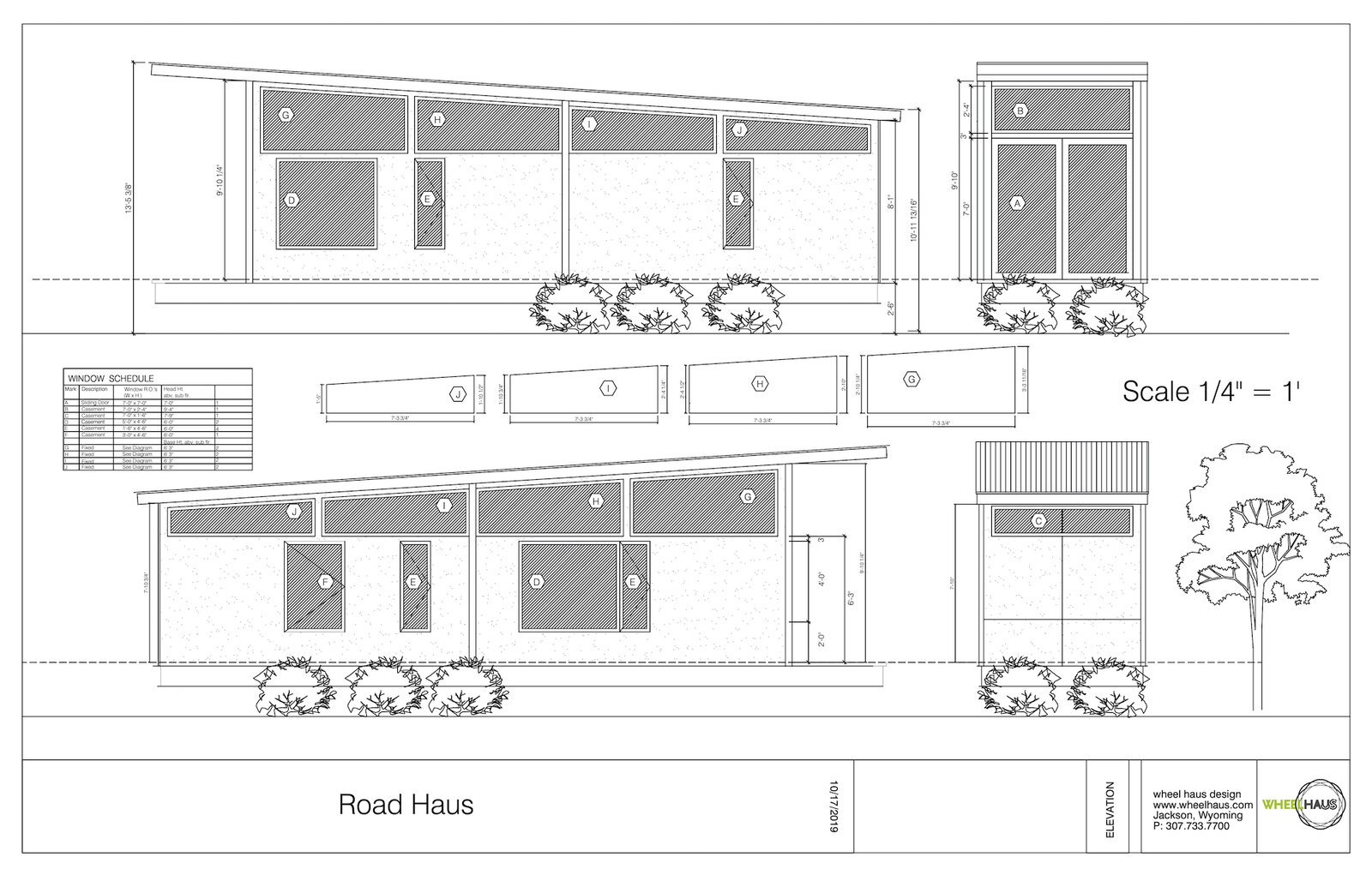 Elevations of Road-Haus by Wheelhaus  Photo 15 of 15 in This 250-Square-Foot Prefab Cabin Fits a Queen Bed and a Fireplace