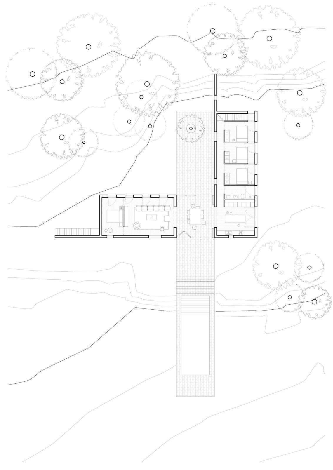 Floor plan of Casa Ter by Mesura