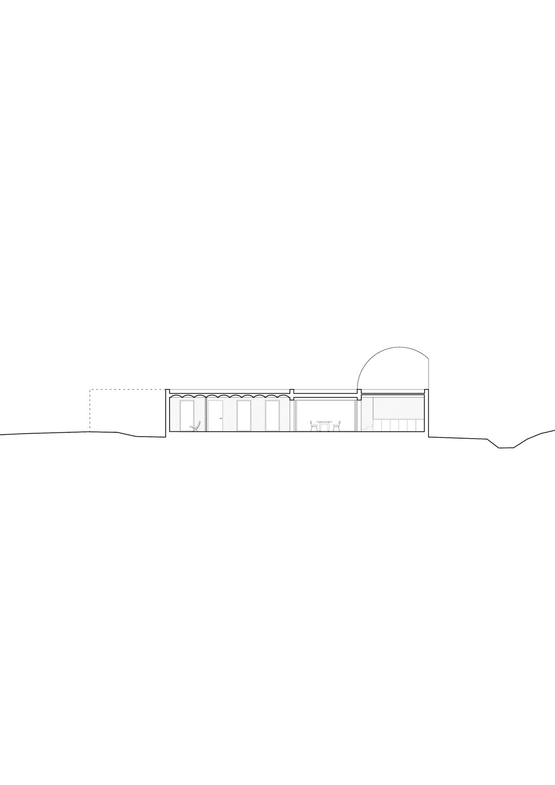 Section of Casa Ter by Mesura