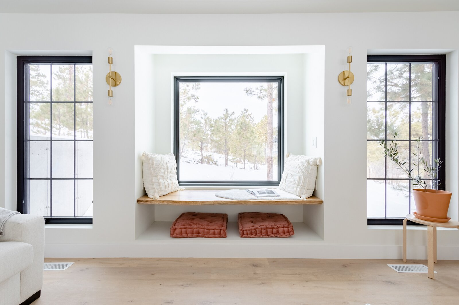 Window seat of The Lofthouse by Drew + Tarah MacAlmon.